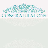 Vector vintage Congratulations card Stock Photo