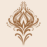 Vector vintage damask element. Element of floral oriental ornament Stock Photography