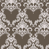 Vector Vintage Damask Pattern ornament in Classic style Royalty Free Stock Image