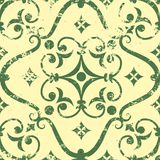 Vector vintage damask seamless pattern element. Stock Images
