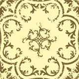 Vector vintage damask seamless pattern element. Royalty Free Stock Photography
