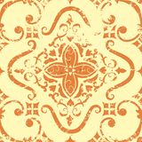 Vector vintage damask seamless pattern element. Royalty Free Stock Photos