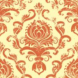 Vector vintage damask seamless pattern element. Stock Photos