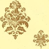 Vector vintage damask seamless pattern element. Stock Image