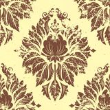 Vector vintage damask seamless pattern element. Stock Photography