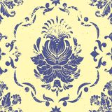 Vector vintage damask seamless pattern element. Royalty Free Stock Image