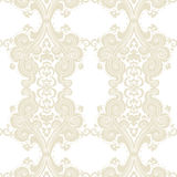 Vector Vintage Damask swirl flower ornament pattern Stock Photography