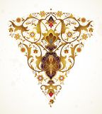 Vector vintage decor in Eastern style. Stock Photo