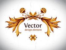 Vector vintage decor. Floral vector. Vintage label Stock Image