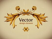 Vector vintage decor. Floral vector. Vintage label Stock Photos