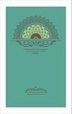 Vector vintage decorative card pattern design Stock Image