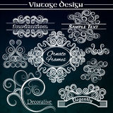 Vector vintage design elements on dark background Royalty Free Stock Photography