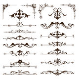 Vector vintage design elements set of ornaments Stock Photography