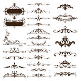 Vector vintage design elements set of ornaments Royalty Free Stock Photography