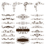 Vector vintage design elements set of ornaments Royalty Free Stock Photo