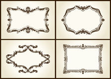 Vector vintage design retro frames ornament label. Isolated Stock Photography