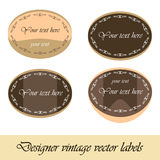 Vector vintage designer labels. Card for text. Royalty Free Stock Photography