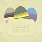 Vector vintage easter background Stock Images