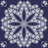 Vector vintage elegant lace ornament snowflake Royalty Free Stock Photography