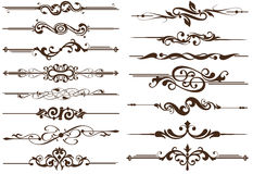 Vector Vintage Elements Dividers Royalty Free Stock Photography