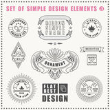 Vector vintage flat elements icons collection Royalty Free Stock Images