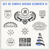 Vector vintage flat elements icons collection Stock Image