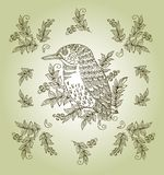 Vector vintage floral background with decorative Royalty Free Stock Images