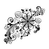 Vector vintage floral  background with decorative flowers for design Stock Images