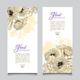 Vector Vintage Floral Banner Royalty Free Stock Photo
