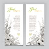 Vector Vintage Floral Banner Royalty Free Stock Image