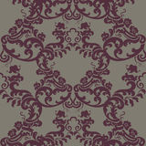 Vector Vintage Floral Baroque Damask Pattern element Imperial style Royalty Free Stock Images