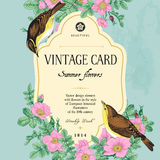 Vector vintage floral card. Royalty Free Stock Image