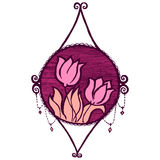 Vector vintage floral decoration. Royalty Free Stock Photo