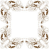 Vector vintage floral frame Stock Photo