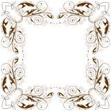 Vector vintage floral frame. Vintage floral frame / white background royalty free illustration