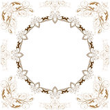 Vector vintage floral frame Royalty Free Stock Photos