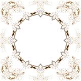 Vector vintage floral frame. Vintage floral frame / white background stock illustration