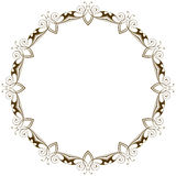 Vector vintage floral frame Royalty Free Stock Images