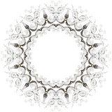 Vector vintage floral frame Royalty Free Stock Image