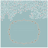Vector vintage floral frame. Ideal for greetings, cards. Stock Image