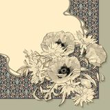 Vector Vintage Floral Invitation Card Royalty Free Stock Photography