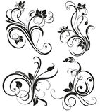 Vector vintage floral ornament Stock Photos