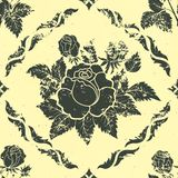 Vector vintage floral seamless pattern element. Royalty Free Stock Photography