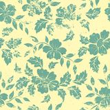Vector vintage floral seamless pattern element. Royalty Free Stock Images