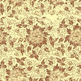 Vector vintage floral seamless pattern element. Stock Photo