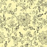 Vector vintage floral seamless pattern element. Royalty Free Stock Photos