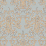 Vector Vintage Floral texture ornament wallpaper. Abstract floral Damask pattern background for cards or texture. Beige color ornament Royalty Free Stock Photo