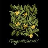 Vector vintage floral ylang-ylang illustration Royalty Free Stock Photo