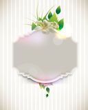 Vector vintage flower concept background Royalty Free Stock Images