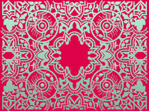 Vector vintage flower motif arabic retro pattern Royalty Free Stock Photography